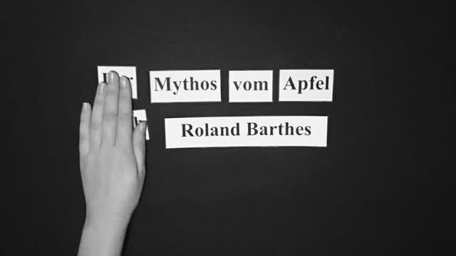Der Mythos vom Apfel nach Roland Barthes
