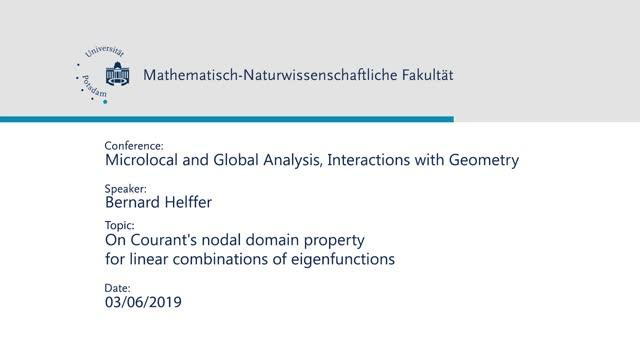 Bernard Helffer - Microlocal and Global Analysis, Interactions with Geometry