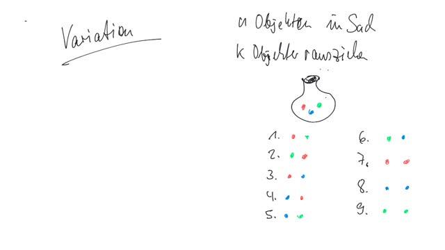 BK - Kapitel 7: Kombinatorik - Variation