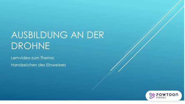 EvDIR Lehrvideo Handzeichen (Drohnen / Multikopter)