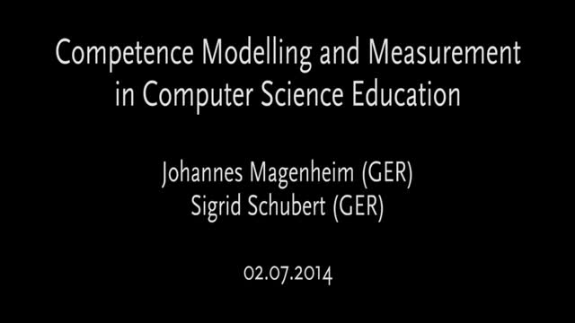 Competence modelling and measurement in computer science education