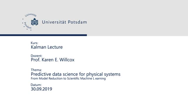Predictive data science for physical systems