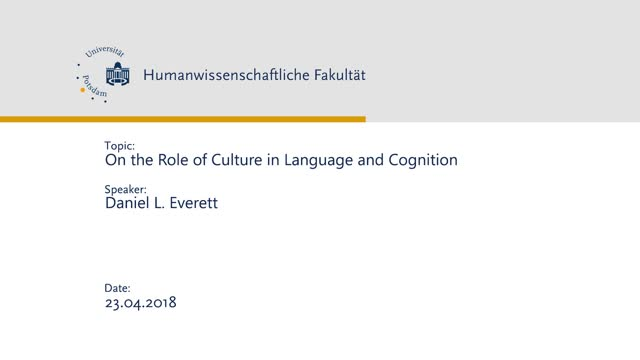 On the Role of Culture in Language and Cognition