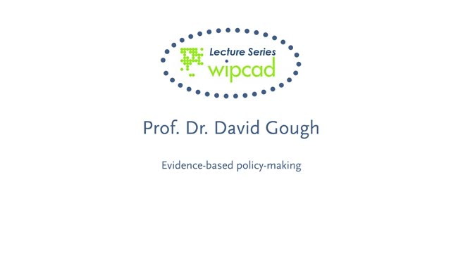 WIPCAD Lecture Series: Evidence-based policy-making