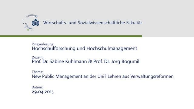 New Public Management an der Uni? Lehren aus Verwaltungsreformen