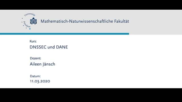 DNSSEC und DANE