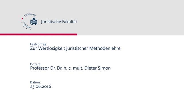 Festvortrag | Prof. Simon | 23. Juni 2016